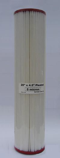 5 micron 20 x 4.5 inch sediment cartridge